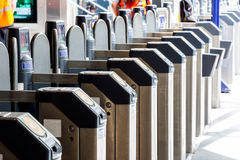 Ticket Gates in Kings Cross Station Stock Images