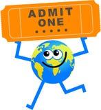 Ticket globe Royalty Free Stock Photography