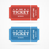 Ticket Icon Blank Admit Set Retro Old Style. Vector. Ticket Icon Blank Admit Set Retro Old Style for Entertainment, Party and Amusement Show. Vector illustration Royalty Free Stock Photo