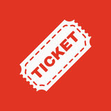 The ticket icon. Ticket symbol. Flat. Vector illustration Stock Images