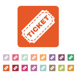 The ticket icon. Ticket symbol. Flat Royalty Free Stock Images