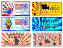 Ticket Illustrations Stock Photography