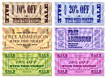 Ticket Illustrations Stock Photo