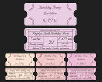 Ticket invitations Royalty Free Stock Photos