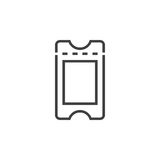 Ticket line icon, outline  logo illustration, linear picto. Gram isolated on white Stock Photography