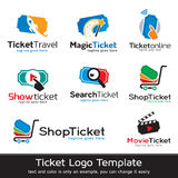 Ticket Logo Template Design Vector Royalty Free Stock Images