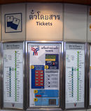 Ticket machine at BTS train station in Bangkok Royalty Free Stock Image