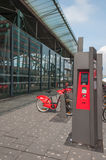 Ticket machine of city-bikes in Lille, France Stock Photography