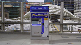 Ticket machine. At the Denver light-rail station Royalty Free Stock Photos