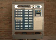 Ticket machine. Ticket vending machine. TVM. Ticket machine in a parking lot or a car park Stock Photography