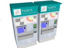 Ticket machines Stock Image