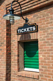 Ticket Office. New Box Office with Closed Ticket Window Stock Image