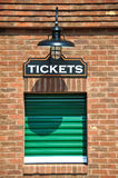 Ticket Office. New Box Office with Closed Ticket Window Royalty Free Stock Images