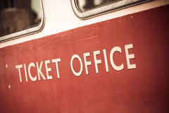 Ticket office. Vintage ticket office sign with slight grunge effect Stock Photos