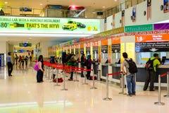 Ticket Office of Bus Terminal. In Malaysia, Kuala Lumpur Stock Photo