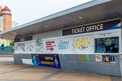 Ticket office. Football Stadium Olimpiyskiy. Kiev, Ukraine - April 22, 2017. Editorial use only. Ticket office. Football Stadium Olimpiyskiy. Kiev, Ukraine royalty free stock photos