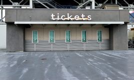 Ticket office at NFL stadium. The ticket office at a National Football League stadium royalty free stock photography