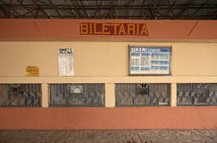Ticket office on railway station in Tirana. Albania Stock Photos