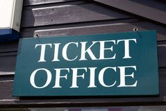 Ticket office sign Stock Photo