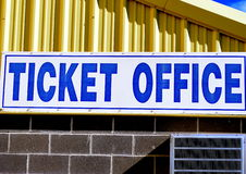 Ticket office sign. Royalty Free Stock Photography