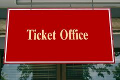Ticket office sign Stock Photos