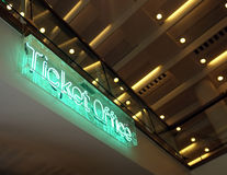 Ticket office sign. Of Royal Festival Hall in London Stock Photography