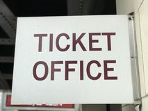 TICKET OFFICE SIGN for a theater district. Playhouse Square is a theater district in downtown Cleveland, Ohio. It is the largest performing arts center in the Stock Photos