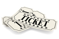 Ticket paper  Stock Photography