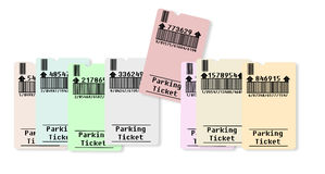 Ticket for parking area Stock Images