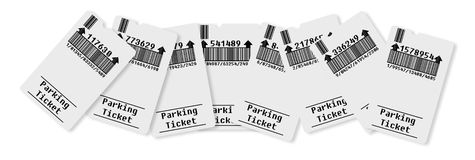 Ticket for parking area Royalty Free Stock Images