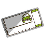 Ticket parking car icon. Vector illustration design Stock Photography