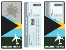 Ticket for passenger traveling to Bahamas Royalty Free Stock Photo