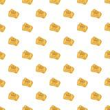Ticket pattern, cartoon style Stock Image
