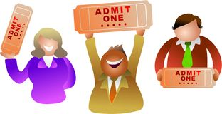 Ticket people stock illustration