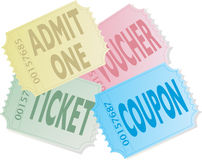 Ticket pile Stock Photo