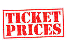 TICKET PRICES. Red Rubber Stamp over a white background Stock Image