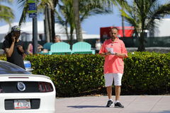 Ticket scalper South Beach Wine and Food Festival. MIAMI BEACH, USA: February 26, 2017: Stock image of the South Beach Wine and Food Festival taking place on Stock Image