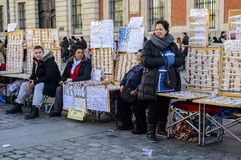 Ticket sellers of the Spanish Christmas Lottery in Sol Royalty Free Stock Photos