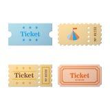 Ticket set icon Stock Photos