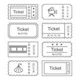 Ticket set icon Stock Photography