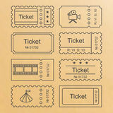 Ticket set icon Stock Images