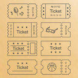 Ticket set icon Royalty Free Stock Photography
