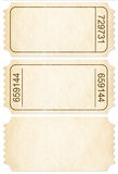 Ticket set. Paper ticket stubs isolated with clipping path Stock Photography