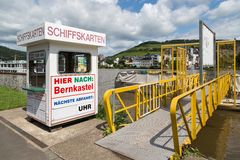 Ticket shop for tourists who want to make a cruise over river Moselle Royalty Free Stock Photos