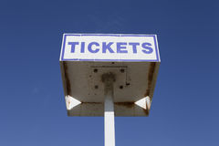 Ticket sign Royalty Free Stock Images