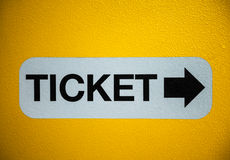 Ticket sign Stock Photos