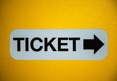 Ticket sign Stock Photos