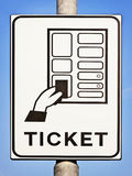Ticket sign Stock Images