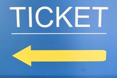 Ticket sign  on the street Stock Image