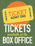 Ticket sign Stock Image